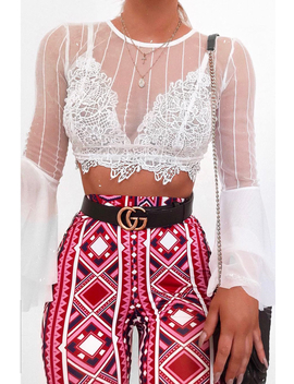 Fuchsia Aztec Print Flares   Mayna by Rebellious Fashion