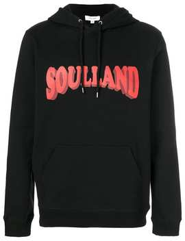 Soullandlogo Print Hoodie Home Men Soulland Clothing Hoodies Ripped Knee Straight Leg Jeans Valentino Garavani Soul Am Sneakerslogo Print Hoodie by Soulland