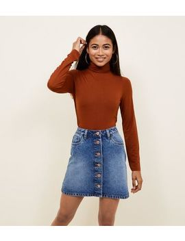 Petite Rust Roll Neck Top by New Look