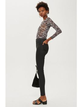 Black Coated Joni Jeans by Topshop
