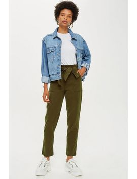 High Waist Utility Trousers by Topshop