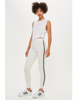 Slim Joggers With Side Stripe by Topshop