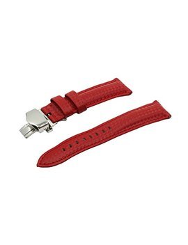 Swiss Reimagined Leather Watch Band Polished Stainless Steel Butterfly Deployment Buckle Spring Bars by Swiss Reimagined