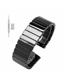 Quick Release Full Ceramic Smart Watch Band Universal Strap Steel Butterfly Buckle Strap For Samsung by Nice Pies