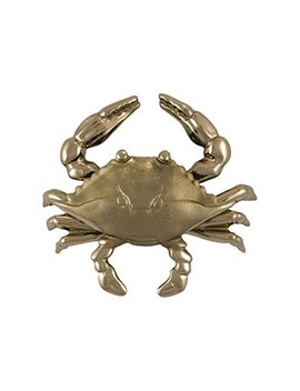 Blue Crab Door Knocker   Nickel Silver (Standard Size) by Michael Healy Designs
