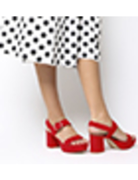 Mouse Platform Sandals by Office
