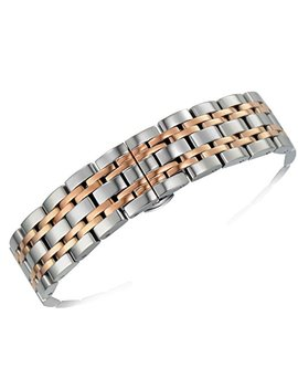 Premium Solid Gold Stainless Steel Wristwatch Bracelets Straight End Heavy Type Adjustable Size by Autulet