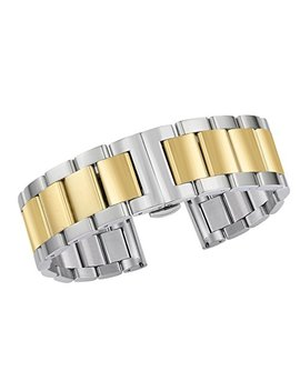 Gorgeous Watch Bracelets Replacement Luxury Solid Stainless Steel Dual Tone Silver And Gold by Autulet