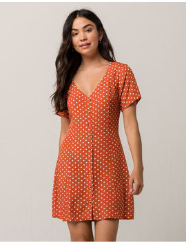 Elodie Polka Dot Button Front Dress by Elodie