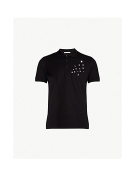 Pin Detail Slim Fit Cotton Piqué Polo Shirt by Givenchy