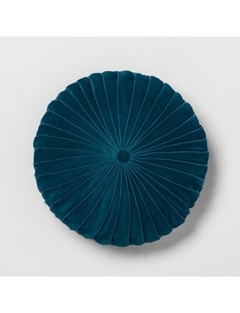 Pleated Velvet Round Throw Pillow   Opalhouse™ by Shop Collections