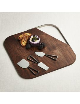 Boyd Board And Black Nickel Cheese Tools Set by Crate&Barrel