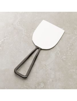 Black Nickel Wedge Cheese Knife by Crate&Barrel