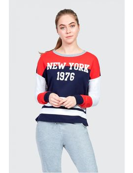 New York Col Block Sweat by Select
