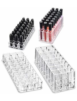 (Limited Offer Gift Set) By Alegory Acrylic Lipstick & Acrylic Lip Gloss Organizer by Amazon
