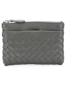 Woven Zipped Wallet by Bottega Veneta