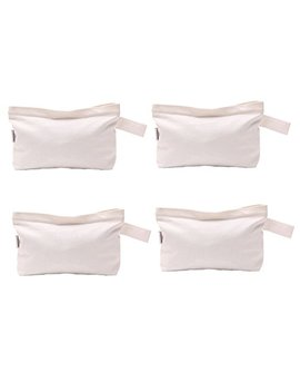 Augbunny Multi Purpose Cotton Canvas Zipper Makeup Bag Pouch 4 Pack by Augbunny