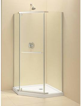 "Dream Line Prism 34 1/8 In. D X 34 1/8 In. W, Frameless Pivot Shower Enclosure, 3/8"" Glass, Chrome Finish by Dream Line"