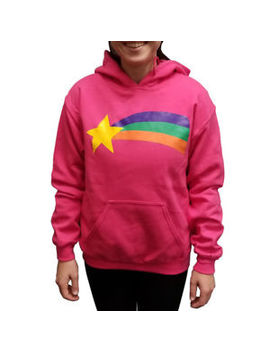 Mabel Pines Sweatshirt Gravity Falls Costume Pink Cosplay Rainbow Tv Hoodie Hood by Retailer Of Awesomeness