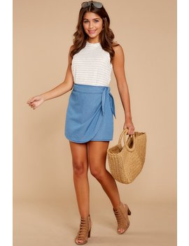 Things To Do Chambray Skirt by Lunik