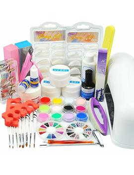 Wind Max Us Seller! 25 In 1 Combo Set Professional Diy Uv Gel Nail Art Kit 9 W Lamp Dryer Brush Buffer Tool Nail Tips Glue Acrylic Set by Amazon