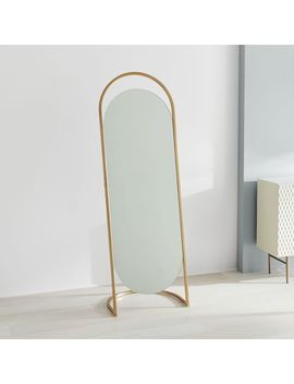 Folded Ellipse Standing Mirror by West Elm