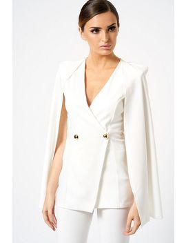 **Cape Detail Blazer By Club L London by Topshop