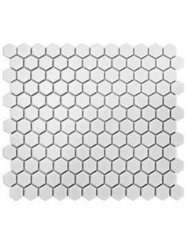 "Elite Tile Retro 10.25"" X 11.75"" Porcelain Mosaic Tile In White & Reviews by Elite Tile"