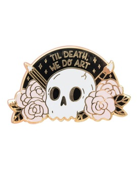 Death  Enamel Pin by Keshegans