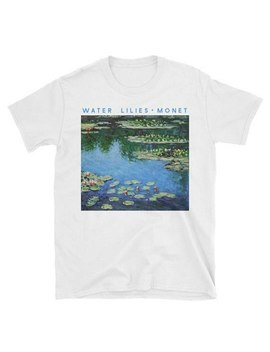 Claude Monet Painting Water Lilies T Shirt Ladies Summer Tops Tees Tumblr Graphic Shirts Art Aesthetic Short Sleeve White Tshirt by Hillbilly