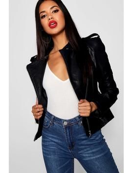 Zip Detail Biker Jacket by Boohoo