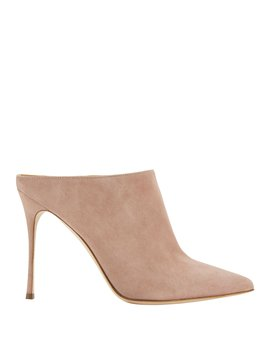 Godiva Open Back Suede Pumps by Sergio Rossi