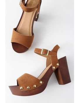 Brooklynn Chestnut Suede Platform Sandals by Lulu's