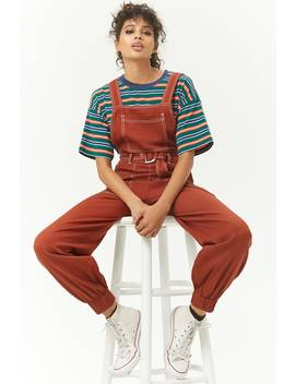 Contrast Stitched Overalls by Forever 21