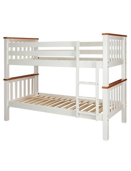 Argos Home Heavy Duty Bunk Bed Frame   White And Pine by Argos