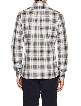 Plaid Cotton End On End Shirt by Tomas Maier