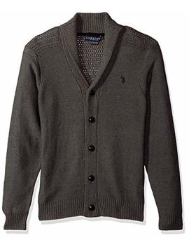 U.S. Polo Assn. Men's Reverse Jersey Shawl Collar Cardigan by U.S. Polo Assn.