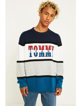 Tommy Jeans Retro Colour Block Knit Jumper by Tommy Jeans