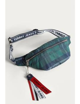 Tommy Jeans Logo Tape Checked Cross Body Bag by Tommy Jeans