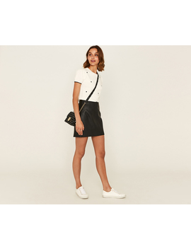 Faux Leather Mini Skirt by Oasis