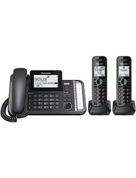 Panasonic Kxtg9582 B 2  Line Corded/Cordless Expandable Link2 Cell Telephone System With Two Cordless Handsets by Panasonic