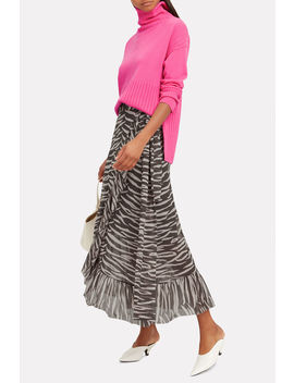 Tilden Mesh Wrap Skirt by Ganni