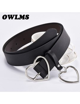 Newest Design Heart Buckle Belt Girl Hot Love Pin Buckle Belts Student Cute Gifts For Girlfriend Jeans Punk Bar Belt Wide Women by Owlms