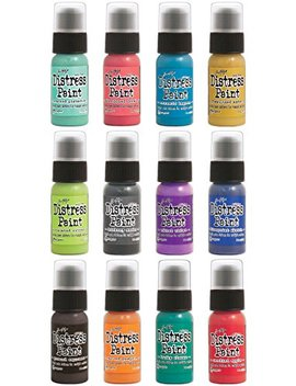 Ranger   12 Color Of The Month 2015   Tim Holtz   Distress Dabber Paint Bundle by Tim Holtz Distress