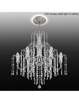 "Crystal Rain 29""W 6 Light Crystal Chandelier With Led Canopy by Lamps Plus"