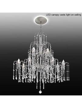"Crystal Rain 33""W Crystal Chandelier With Led Canopy by Lamps Plus"