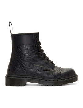 Black Joy Division 'unknown Pleasures' 1460 Boots by Dr. Martens