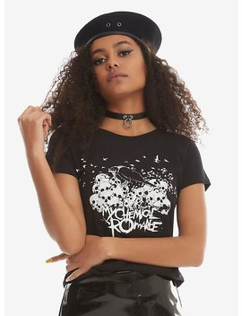 My Chemical Romance Crow & Skulls Girls T Shirt by Hot Topic