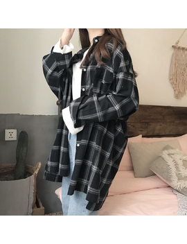 Women Plaid Shirts 2018 Spring Long Sleeve Blouses Shirt Office Lady Cotton Shirt Casual Loose Tops Plus Size Blusas 0.25 Kg by Oneightwenty