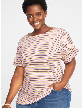Relaxed Plus Size Ruffle Sleeve Top by Old Navy